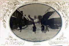 Black Street 1925 snow at Christmas