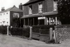 Ribbands hairdressers shop, Repps Road. c1920.-26