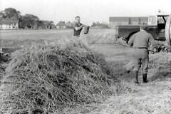 Church Farm 1978. Sam Warnes in trilby