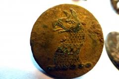 17 century Griffin livery button
