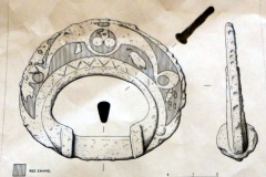 Iron Age terret ring drawing