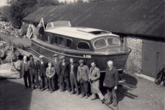 Edgar Kirby's boat built in 1956 by Walter Austrin