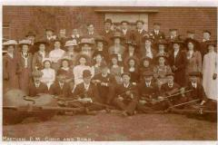 Choir and string orchestra c1910