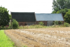 North side of listed barns