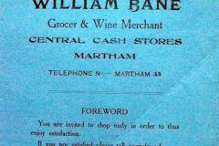 Bane advert Xmas 1928