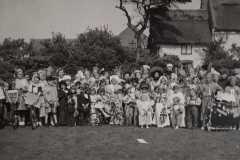 Children's fancy dress on The Green. 1946.