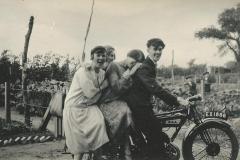 Miriam Harriss plus Mini, Anes & Basil Southgate at Somerton Road allotments