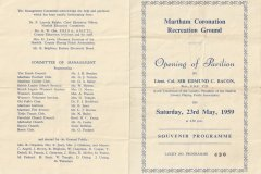 Pavilion opening  in 1959