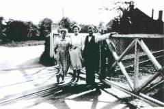 Trio at crossing
