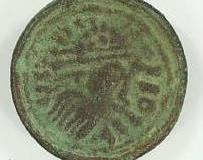 Saxon brooch made in the image of a Roman coin