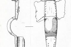 Drawing of the Saxon Cruciform Brooch found in Martham