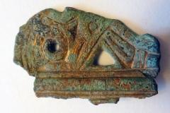 Middle Saxon. Chip carved bird. Casket mount.