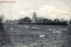 Church across Bell Meadow