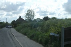 Staithe-Road-before-the-scout-hut-was-built